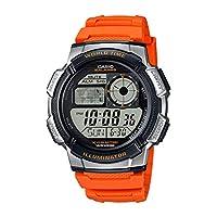 Casio Illuminator Mens Orange Resin Strap Watch AE-1000W-4BVDF