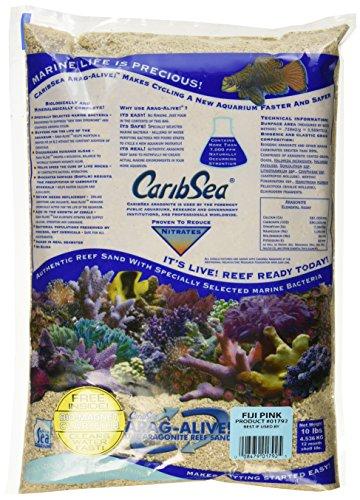Caribsea Arag-Alive Fiji Aquarium Sand, 10-Pound, Pink 1