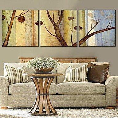 Leinwand Kunst Bäume und Blätter Set von 3 , 24