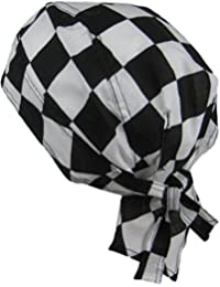 Fitted BANDANA black and White Squares