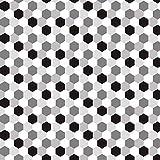 Adesivo esagonale vintage piastrellabile autoadesivo in PVC per soggiorno Adesivo decorativo da parete per bagno cucina 20cmx5m (7.87 x 196.85 pollici) (HTS004)