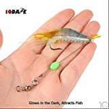 #10: 10Dare Fishing Bait - Shrimps Glow in Dark Baits 6g 9cm ABS | Fishing Lures & Baits (Yellow-Blue)