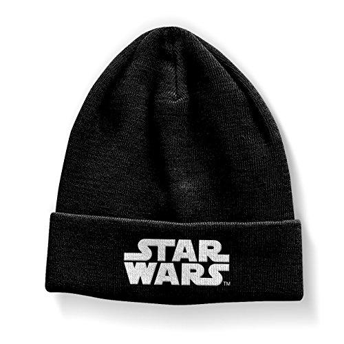 Offizielles Lizenzprodukt Star Wars Classic Logo Beanie (Schwarz)