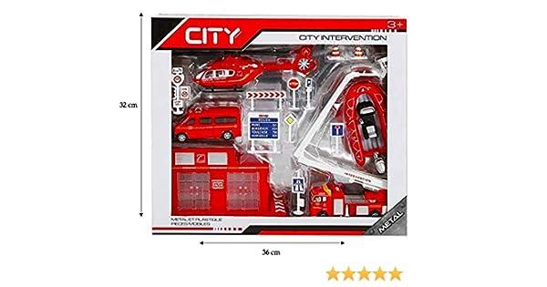 Assortiment v/éhicules Miniatures en m/étal Coffret Pompiers STARLUX 806101