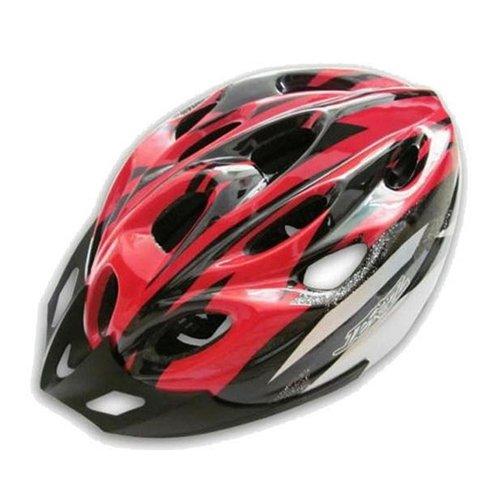 Casco – JSZ casco de bicicleta para los adultos hermoso casco de carbono con visera-negro+rojo