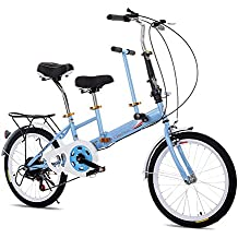 KAHE2016 - Rueda Plegable portátil para Bicicleta de tándem de 20 Pulgadas, de Acero de