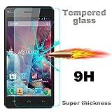 "Para Wiko Lenny 3, Leathlux [0.26mm] Premium Protector de Pantalla de Vidrio Templado Cristal Defensa Membrana 9H Screen Protector Glass Film Transparente para Wiko Lenny 3 5.0"""