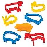 Baker Ross Farm Animal dough Cutters per bambini per la cottura di biscotti Modelling and making Countryside Scenes (confezione da 6)