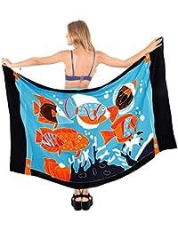 La Leela Wrap Pareo Beachwear Skirt Cover up Bathing Suit Swimwear Womens Sarong Pool Wear Swimsuit Resort Wear