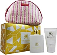 Trussardi Donna Gift Set For Women - Eau De Parfum Spray 100 ml + Body Lotion 200 ml + Beauty Case 100 ml