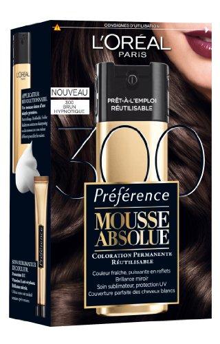 L'Oréal Paris Préférence Mousse Absolue Coloration Noire Réutilisable 300 Brun Hypnotique