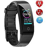 AMOYEE Fitness Armband mit Pulsmesser, Blutdruckmessung Fitness Uhr Wasserdicht IP68 Fitness Tracker mit Pulsuhren Aktivitätstracker Schlafmonitor Schrittzähler Kalorienzähler Smart Armband uhr Herren Damen Kinder