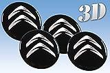 autocollants sur pneus Citroen imitation tout Centre taille Cap Logo Badge Enjoliveurs 3d (56.50mm.)