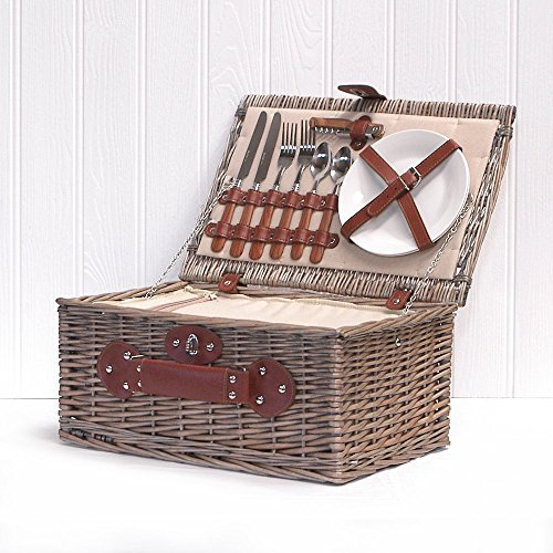 Fine Food Store Cream Chiller - Cesta de picnic con refrigerador integrado, color marrón width=