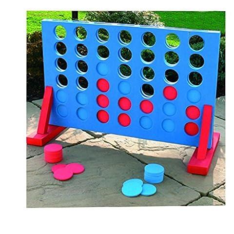 4dans une rangée Giant Connect Jeu de jardin pour enfants adultes Family Party Fun gift24