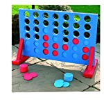 Giant Four in A Row Garden Outdoor Game Childrens Kids Adult Family Fun Toy Pub Game