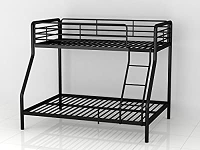 Bunk Bed Triple Metal Frame Children's 3ft Single 4ft6 Double in Black