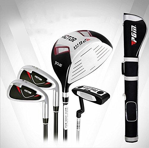PGM Ensemble de clubs de golf de golf Demi Lot --- 4clubs avec sac de club, pour droitier, manche...