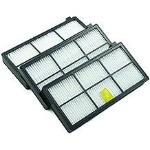 3 filtros de HEPA para aspiradora iRobot Roomba 800 y 900 series de Hannets® no
