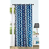 Honey Traders Premium 1 Piece Eyelet Polyster Window Curtain - 5ft, Blue