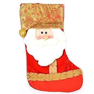 Gifts 4 All Occasions Limited SHATCHI-871 - Calcetín navideño para Navidad, diseño de Papá Noel, multicolor