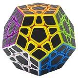 Zauberwürfel Megaminx Coolzon® Speed Cube Würfel Carbon Faser Aufkleber Neue Geschwindigkeits Super Schnell und Glatt