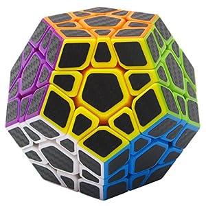 Puzzle Cube Megaminx Coolzon® Magico Cubo con Adesivo in Fibra di Carbonio Nuovo Velocità