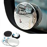 ECYC® Car Blind Spot Spiegel, 1 Paar 3R 360 Grad Frameless Ultradünne Weitwinkel Rundspiegel