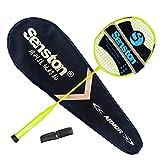 Senston N80YTP Badmintonschläger 100% Graphit Carbon Badminton schläger Hohes Pfund Perfect Badminton Schlaeger mitSchlägertasche