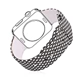 Apple Watch Band, Bandmax Fashion Gitter Muster Weiches Silikon Sportarmband Ersatzarmband Wrist...