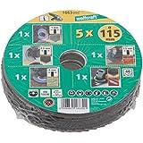 Wolfcraft 1664000 - Conjunto básico para amoladora de ángulo (diámetro 125 mm)