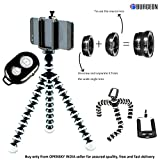 #9: Burgeon Gorilla Tripod / Flexible Mini Tripod 10 inch For Phone/DSLR Camera With Mobile Attachment ,Universal Mobile Lens Kit & Bluetooth Remote