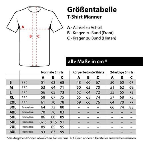 Männer und Herren T-Shirt Reisegruppe Eimer MALLE Orange/Weiß