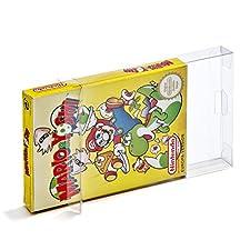 10 Klarsicht Schutzhüllen Nintendo Entertainment System [10 x 0,3MM NES OVP] Spiele Originalverpackungen Passgenau Glasklar
