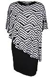 Doris Streich Damen Jerseykleid mit Viskose-Überwurf Grafisches Muster