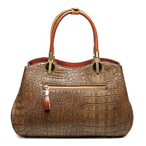 HWUDFSLG Authentische Frauen Krokodil Tasche Aus Echtem Leder Frauen Handtasche Heißer Tote Frauen Tasche Große Marke Taschen Designer Luxus Handtaschen