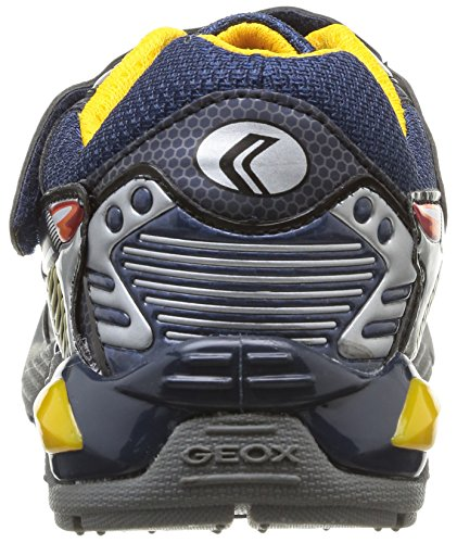 Geox Supreme, Sneaker a Collo Basso Bambino Multicolore (Navy/Silver)