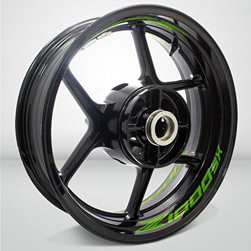 Preisvergleich Produktbild Glanz Hellgrün Motorrad Inner Rim Tape Decal Aufkleber für Kawasaki Z1000sx