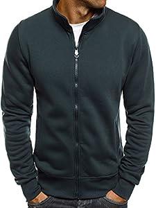 OZONEE Herren Sweatshirt Langarmshirt Pullover Sweats Pulli J.STYLE BO02 INDIGO L