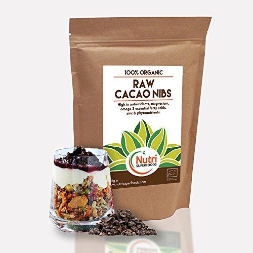 ROHE Organische Kakaospitzen | Vielseitige Dark Chocolate Zutaten | Beste Magnesium Rich Superfood | Vegan Protein glutenfrei | Ideal für Power Smoothies und Backen 400g | Von Nutri Superfoods