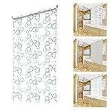 OUBO Modernes Duschrollo Wasserdichter Duschvorhang, Schnelltrocknendes Rollo Badewannenvorhang für Dusche und Badewanne, 240 cm Maximale Länge (Anti-Schimmel Metallfuß, Breite 140 cm)