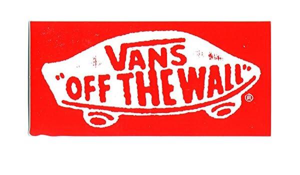 Vans Skateboard Scarpe Adesivo off The Wall. 13 cm Circa