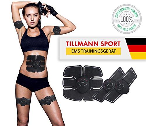EMS Trainingsgerät von Tillmann's® Bauchmuskeltrainer Fitness Geräte Elektrostimulation Massagegerät Muskelaufbau und Fettverbrennung -mit Spitzensportlen enwickelt- von Tillmann's Deutschland® (Fettverbrennung)
