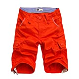 BicRad Herren Cargo Shorts Baumwolle Orange 40