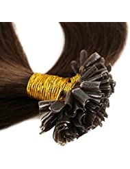 200 Mèches Extension Cheveux Naturel Pose a Chaud - Extensions Keratine Pre Bonded U Tip Remy Human Hair Extensions...