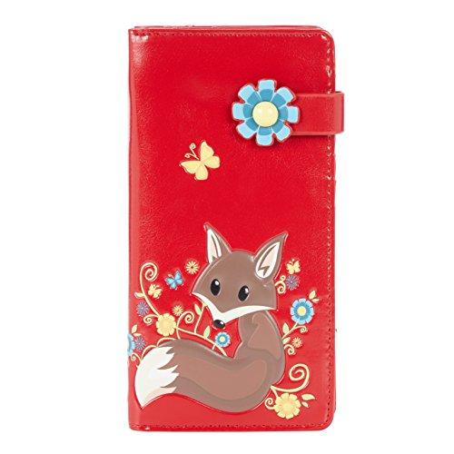 Shagwear Junge-Damen Geldbörse, Large Purse Designs: (Fuchs Rot/Fox) - Fox Damen-geldbörse