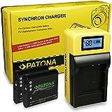 LCD Cargador de Batería + 2x Premium Batería Li-90B para Olympus Stylus SH-1   Stylus SH-2  ...