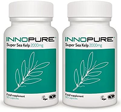 Sea Kelp Duo Saver Pack High Strength 2000mg | 6 Month Supply | Vegan, Vegetarian Society Approved from Innopure