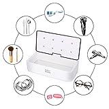 UV Reinigungsgerät Intelligent Chip Kontrolle Neue Technologie 3 Minuten Schnelle Desinfektion für Brillen Besteck Zahnbürste Schmuck Uhren, Weiß Eckige