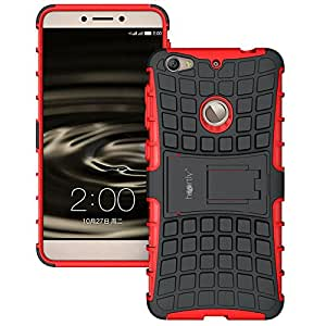 Heartly Flip Kick Stand Spider Hard Dual Rugged Armor Hybrid Bumper Back Case Cover For Letv Le 1S / LeEco Le 1s Eco / LeEco Le 1S - Hot Red
